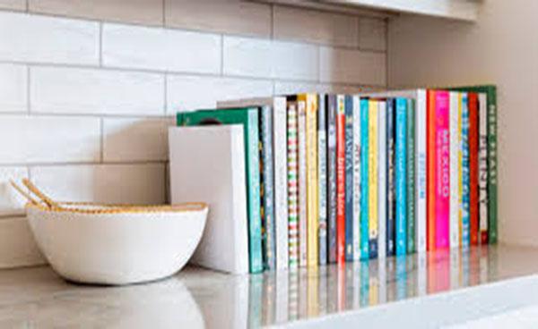 Libros en la cocina