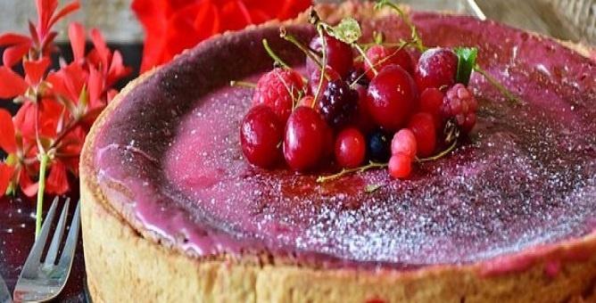 Tarta de Queso con Frutos del Bosque